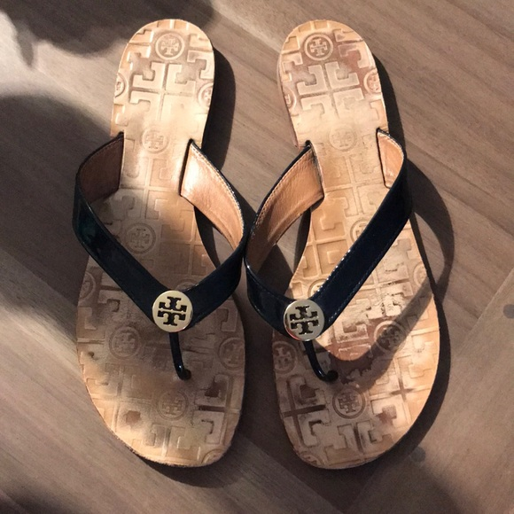Tory Burch Patent Thora Sandals
